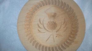 Scottish Wooden Shortbread Mould Thistle Design Stanley Whyte Pathead 22 cm BiN