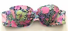 Victorias Secret Swim Bandeau Bikini Top 34A Neon Floral