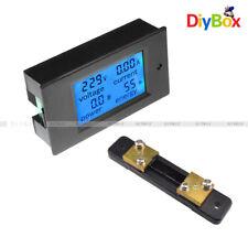 LCD Digital Volt Watt Current Power Meter Ammeter Voltmeter Meter 50A+Shunt