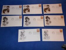 Lot of 8 FDCs: 1971 First Day - Ernie Pyle #1398, various cachets, unaddressed