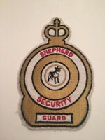 """Vtg Shepherd Security Sew On Embroidered Patch Guard German Dog 5.5"""""""