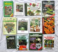 Konvolut 12 Garten-Bücher Nutzgarten Ziergarten Wassergarten Enzyklopädie Balkon