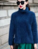 New genuine mink cashmere sweater women  pullovers  free shipping S1879