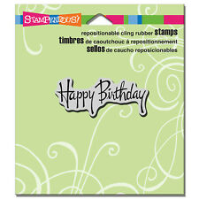 Stampendous Rubber Stamps Cling Graceful Birthday New cling Stamp