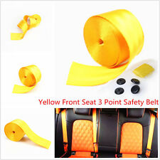 Yellow 380cm Auto Racing Car Harness 3 Point Front Safety Retractable Seat Belt