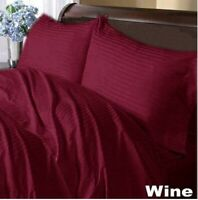 Bedding Collection 1000 Thread Count Egyptian Cotton US Sizes Wine Striped