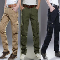 Combat Men's Casual Cotton Cargo Pants Army Military Camo Trousers Work Outdoor