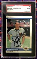 1984 Fleer #387 Joel Youngblood Hand Signed Auto SGC AUTH San Francisco Giants