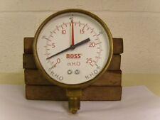 """4"""" Brass Boss Gauge 0 - 25 mH2o / 0 - 80 ft H2o"""