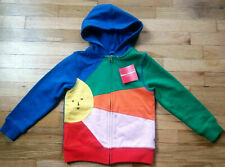 NWT HANNA ANDERSSON COTTON RAINBOW SUNSHINE FULL ZIP FRENCH TERRY HOODIE 100 4