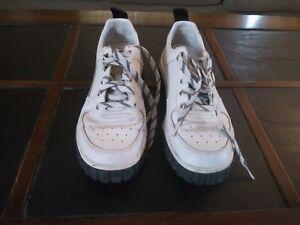 Diesel sneakers men size 9 white leather low cut S-RUA LC