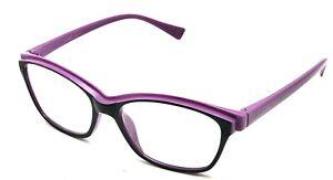 Betsey Johnson Purple Oval Reading Eyeglasses Frame 2.00 BJ2