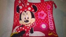 Disney Minnie Mouse Canvas Tote Shoulder Bag Repels Liquid Lined Zip Closure Exc