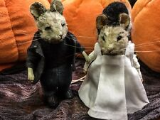 R John Wright New! Monster Mice, IN STOCK, Frankenstein & Bride of Frankenstein