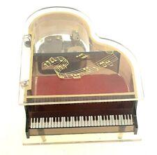 Grand Piano Music Box Jewelry Holder See Thru Plays