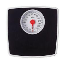 Taylor  330 lb. Analog  Bathroom Scale  Black