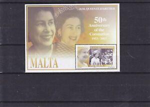 2003 Malta MNH - Queen's Coronation Jubilee M/S