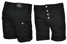Lexxury Boyfriend Shorts Damenshorts Bermuda Shorts Chino Capri Hose Jeans