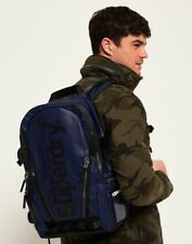 Superdry Silver Tarp Backpack in Navy