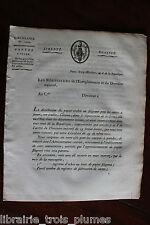 ✒ juillet 1798 Circulaire signée sur les cartes à jouer - autographe