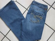 WOMENS SILVER BRAND 'LOLA' STRETCH LOW RISE BOOT CUT JEANS SIZE 28/31  30x30