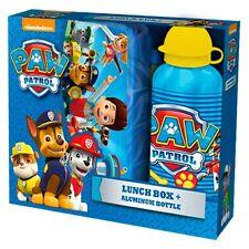 Paw Patrol set colazione Borraccia alluminio,scatola scuola,asilo,merenda