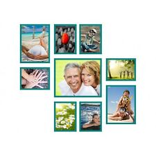 9er Holz Bilderrahmen Foto Bild Collage Set Rahmen Fotorahmen fotogalerie