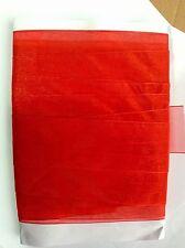 "10 M Metres Red Organza Ribbon 1.5"" 4cm Width Craft Sewing Gift Wrap"