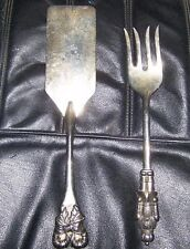 SILVER SERVING PIECES INTERNATIONAL SILVER CO FORK AND CAKE SERVER CHRISTMAS