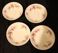 "Royal Albert Bone China Lavender Rose Cereal Oatmeal 4 Bowl Set 6.25"" England(B)"