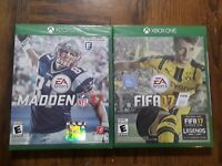 Lot of 2 Games XBOX ONE EA Sports FIFA 17 & MADDEN NFL 17 Video Games New