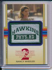 Topps Stranger Things 2 Nancy Wheeler Hawkins Ph Ed Orange Patch Card CP-NWP