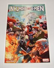 Print - Inhumans vs. X-Men by Leinil Yu - Suitable for framing!