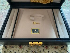 VINTAGE ROLEX YELLOW GOLD DAY DATE PRESIDENT WATCH BLUE JEWELLERY BOX