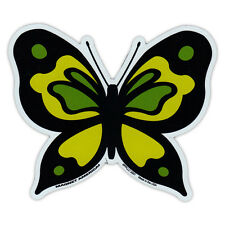 Butterfly Shaped Magnet - Yellow/Green Design - Nature, Peace, Outdoors