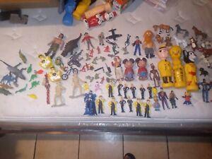 Lot Of toys/action/Figures/mixed Vtg/ Vtg soap bottles