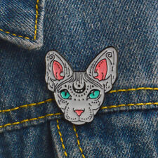 Corsage Brooch Pins Jewelry Gift Hk Cartoon Cat Enamel Lapel Collar Brooch Pin