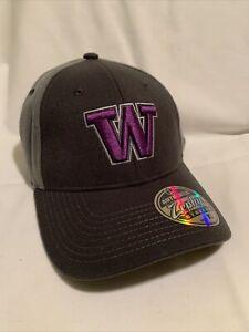 Zephyr Washington Huskies W Logo Mesh Fitted Gray Hat XL Extra Large