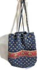 Vera Bradley Emily Pattern Backsack Drawstring Backpack Sack Bag Retired 2006