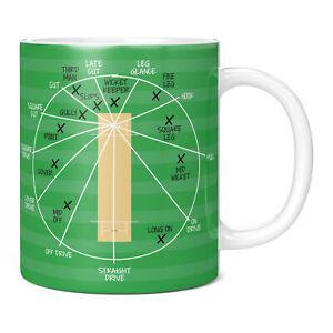 Cricket Fielding Positions Mug, Gifts for Men Presents England Memorabilia Dad