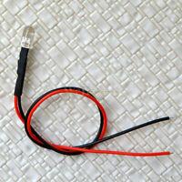 20 x Pre-Wired 5mm warm white lighting LEDs prewired resistor for 12V/16V DC