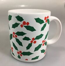 Waechtersbach Christmas Holly Berries White Coffee Tea Mug Holiday 12 oz Spain