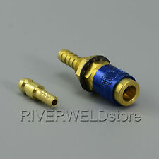 Water-Cooled & Gas Adapter Quick Connector Fitting Fit TIG Welding Torch Intake