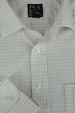 Jos un Banco para Hombre Oro Blanco & Morado Geométrico Algodón Camisa de Vestir