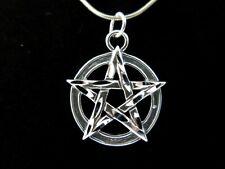 STERLING SILVER Pentagram Pendant Signed DAKOTA WEST Wicca Pagan 3.8g 925 B53