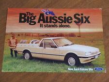 1986 Ford XF Falcon Ute original Australian single page brochure