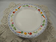 Set of 8 Salad Plates COUNTRY MARKET White Pfaltzgraff Vegetables 109450