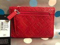"Tahari Woman's Red Trifold Wallet RFID ""Cartera De Mujer Monedero, Billetera $40"