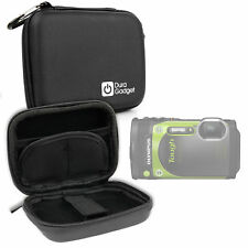 Black Shock-Absorbent Hard Shell Case for Olympus Stylus Tg-870 Compact Camera