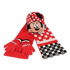Disney Minnie Mouse Winterset Winter Set 3-teilig Mütze Handschuhe Schal NEU